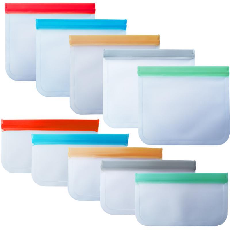 Saco de armazenamento de alimentos preservação geladeira congelamento armazenamento de alimentos reutilizável frasco sacos de produtos frescos ziplock saco