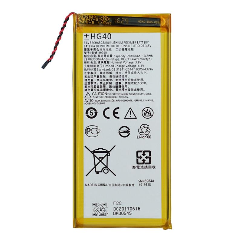 100% original hg40 bateria para motorola moto g5 plus xt1685 xt1687 xt1681 xt1684 telefone de alta qualidade bateria