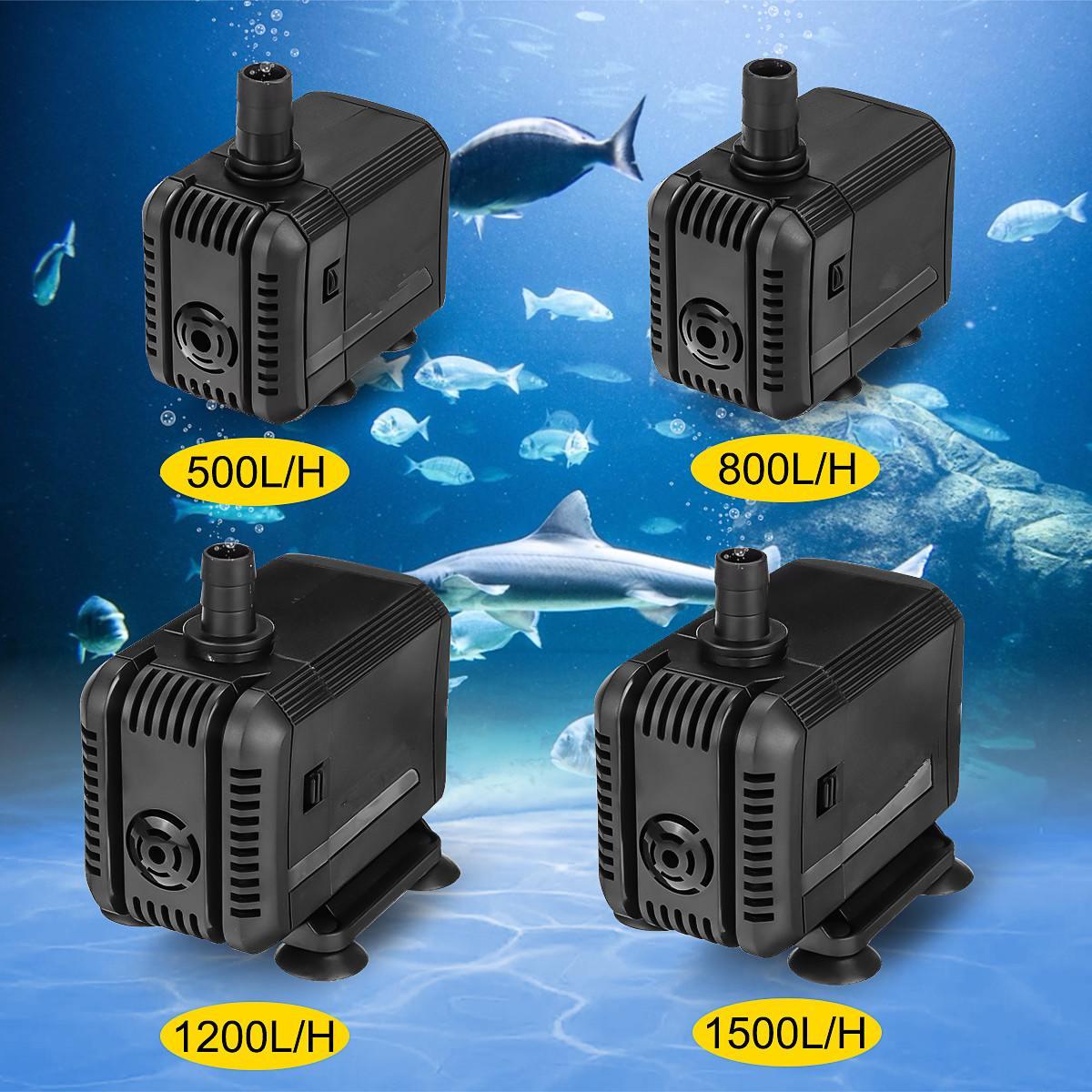 110V Portable Aquarium Water Pump ABS Low Power Mini Pumps Waterproof Submersible Fish Tank Pond Pool Fountains Water Pump