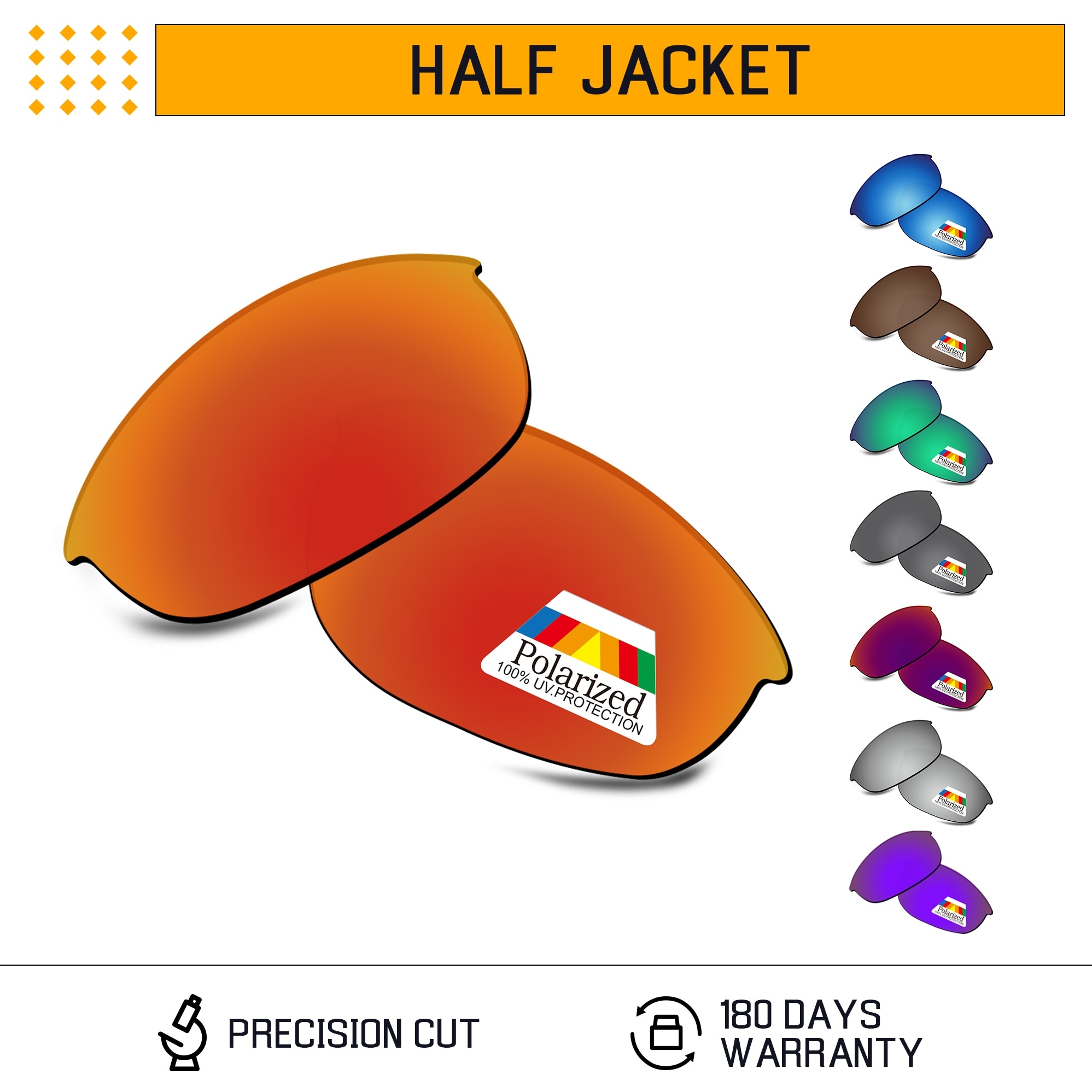 Bwake поляризованные Сменные линзы для-солнцезащитные очки Oakley половина солнечные очки к куртке оправе со светло-несколько вариантов