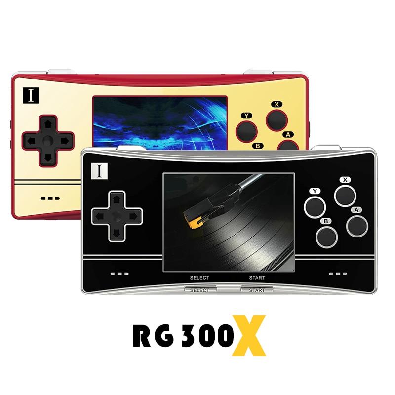 جديد anberonic RG300X ريترو المحمولة وحدة تحكم بجهاز لعب محمول لعبة صغيرة مشغل فيديو HD خارج وضع بنيت في 5000 ألعاب للأطفال هدية