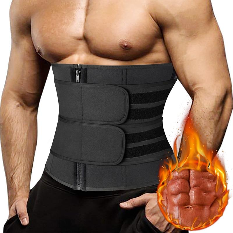 Men Waist Trainer Corsets Fitness Trimmer Belt Slimming Body Shaper for Weight Loss Sauna Sweat Girdle Workout Fat Burner Fajas