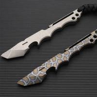 burn titanium crowbar outdoor survival self defense edc multi function tool crowbar bottle opener