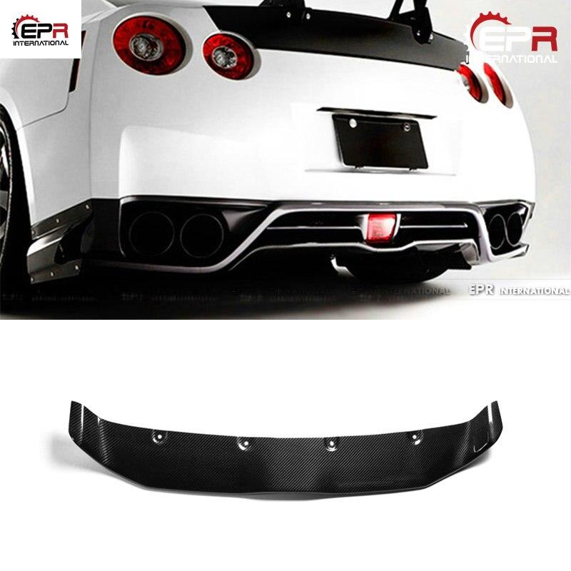 Para Nissan R35 GTR 2013 Ver VRS estilo de fibra de carbono trasero debajo del difusor de estilo de coche kits de carrocería GT-R difusor de carbono