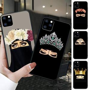 Hijab niqab islam Muslimah Girl black soft phone case cover for iphone se 2020 6 6s 7 8 plus x xs max xr 11 12 pro max funda