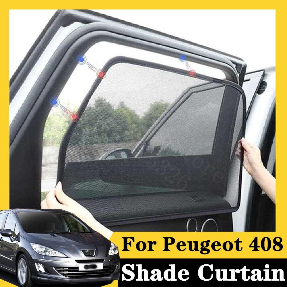 Para peugeot 408 2006-2012 350thp automático deluxe edi 5 pçs tipo de cartão magnético cortina de carro sol sombra janela do carro estilo do carro