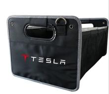For Mercedes BMW Audi Kia Tesla Porsche Mini Kia Nissan Car foldable storage storage bag storage box storage Item sorting  box