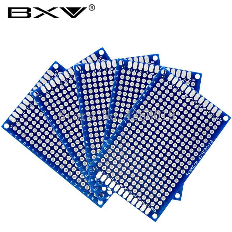 4*6 4*6cm PCB 4x6 4x6cm PCB doble cara prototipo PCB diy placa de circuito impreso Universal azul