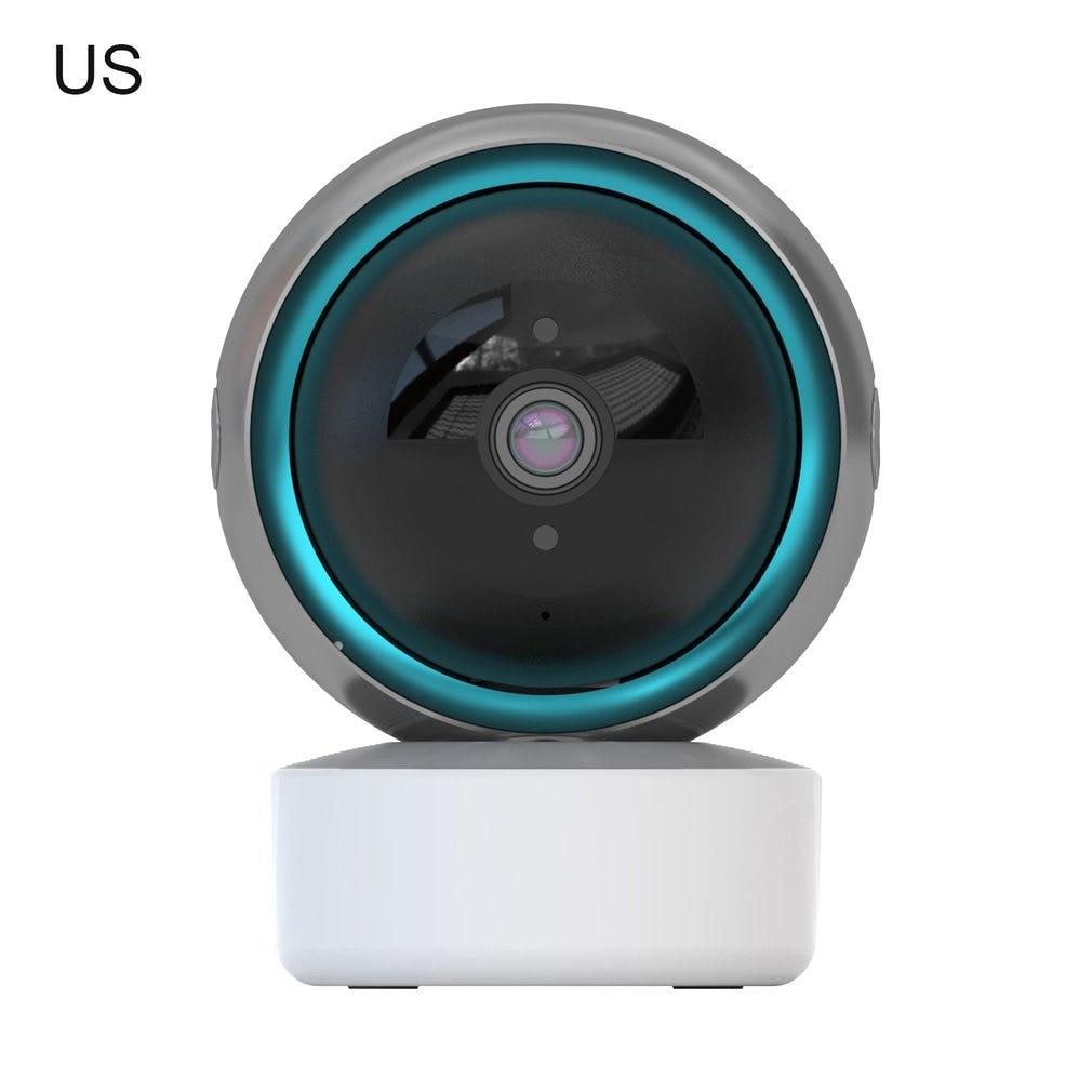 كاميرا مراقبة بالواي فاي ذكية تتبع 1080P ذات ثقب أسود عالية الثبات صوت واضح باتجاهين كاميرا متينة