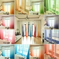 modern gradient tulle curtains for living room bedroom chiffon voile curtains and blackout decorative panel fabric drapes