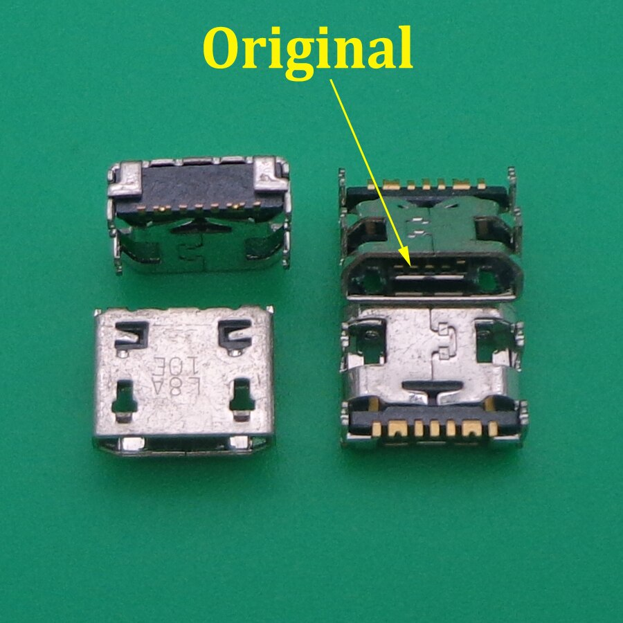 10 Uds. micro mini usb puerto de carga jack enchufe conector para samsung Galaxy G355 G313 A8 A8000 A8009 J1 J120 J210F C3590