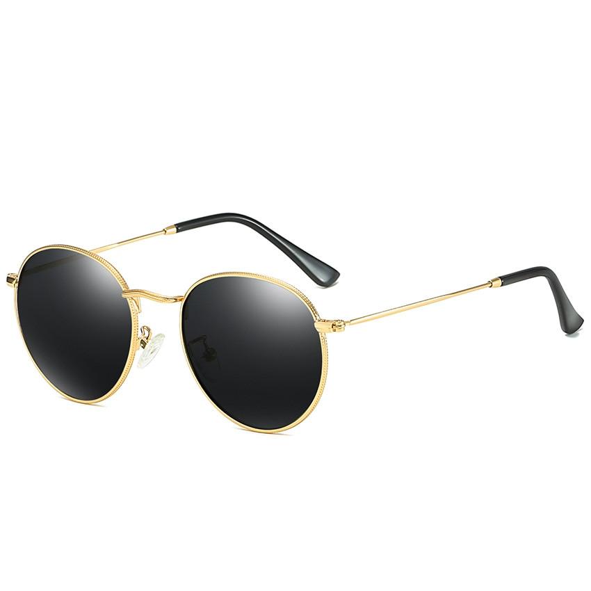 2020 Round Polarized Sunglasses Women Men Classic Small Metal Sun Glasses Male Vintage Anti-glare Driving Eyeglasses UV400 2020 fashion new square men polarized sunglasses classic vintage anti reflective driving mirror women sun glasses uv400