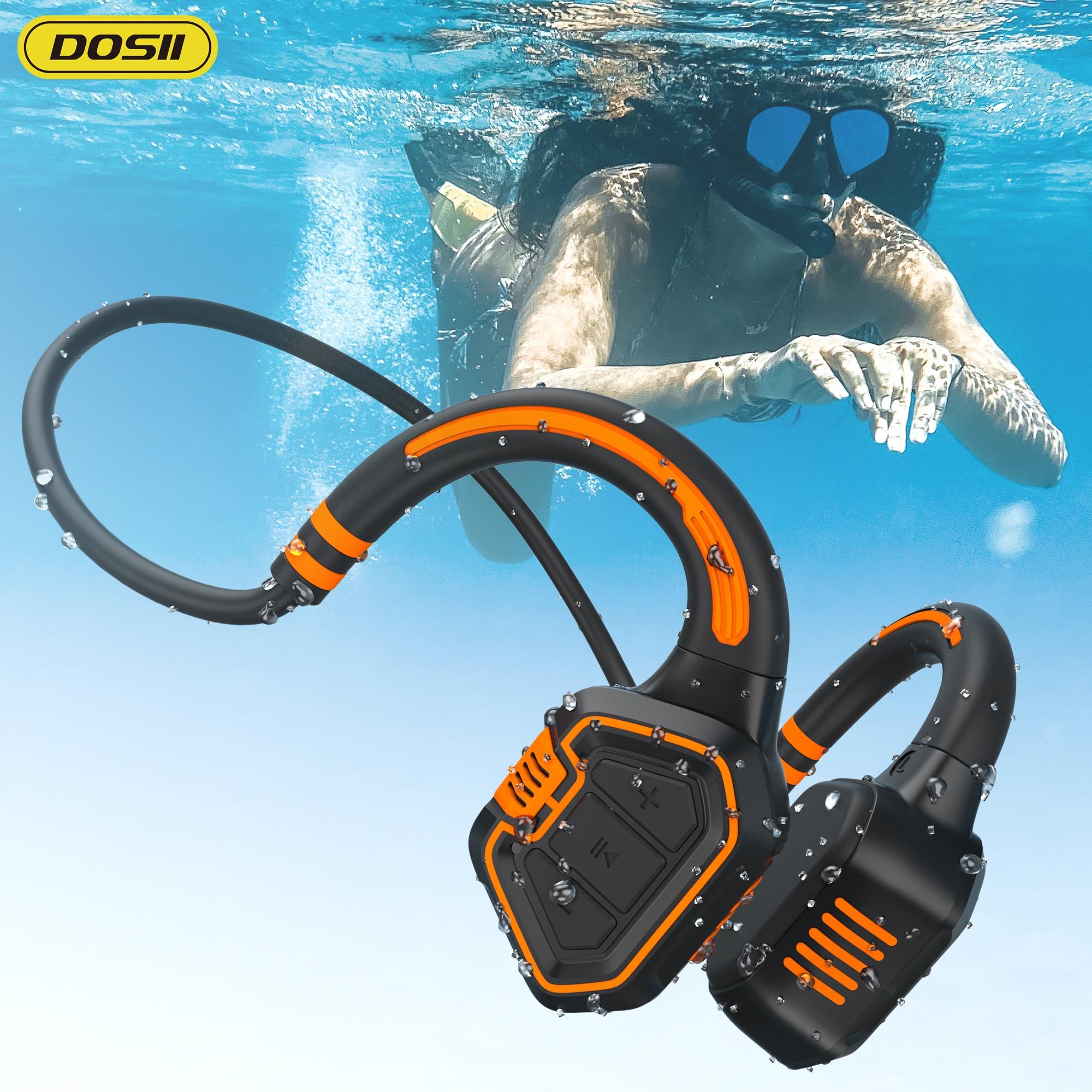 For xiaomi Huawei Bone Conduction Earphone IPX8 Waterproof Wireless Headphones Sports Outdoor Running Earbud Hands-free With Mic