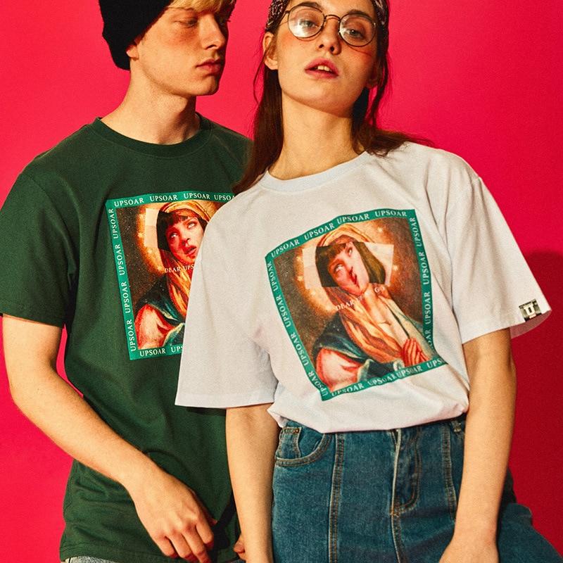 Virgin Mary Men's T-Shirts 2021 Funny Printed Short Sleeve Men T Shirt Cotton Summer Hip Hop Casual