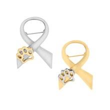 Patte broche broche or argent couleur nœud papillon griffe amour badge