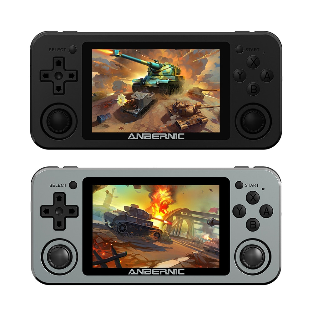 ANBERNIC RG351M Retro Video Game Console Aluminum Alloy Shell 2000 Game Portable Console RG351 Handheld Game Player 3.5 Inches