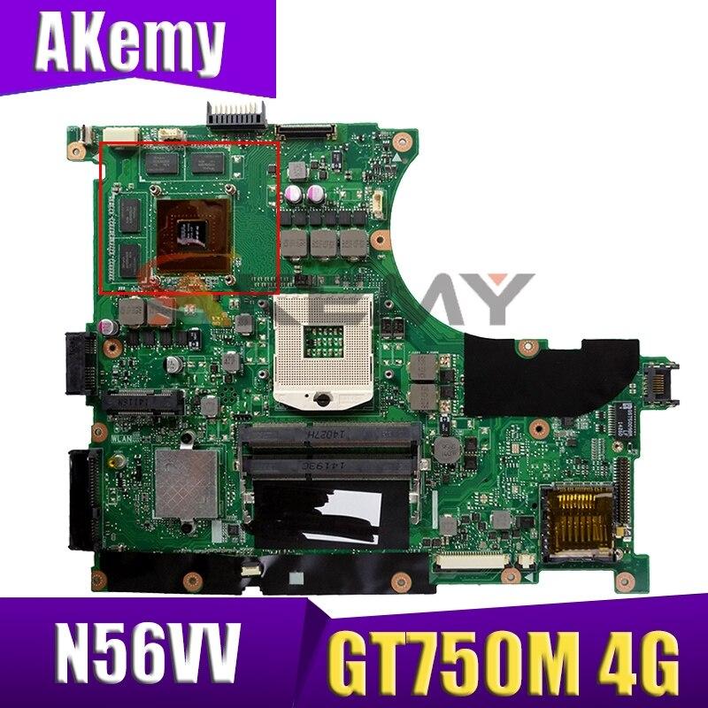 Get N56VV motherboard For ASUS N56VM N56VB N56VV N56VJ N56VZ Laptop motherboard REV2.0 N56VV GT750M/GT650M 4G original TEST OK