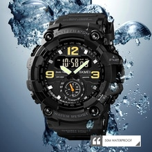 The new multifunctional sports dual display electronic watch European and American style student out