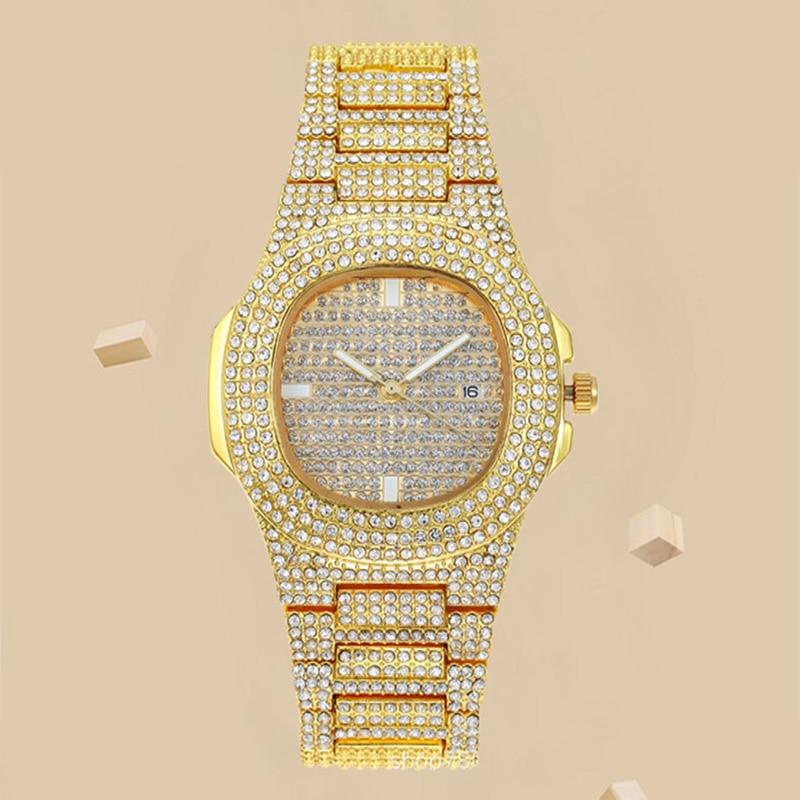 YUNAO Explosive Full Rhinestone Calendar Women's Watch New Rhinestone Starry Quartz Watch High-end Bracelet Watch Female enlarge