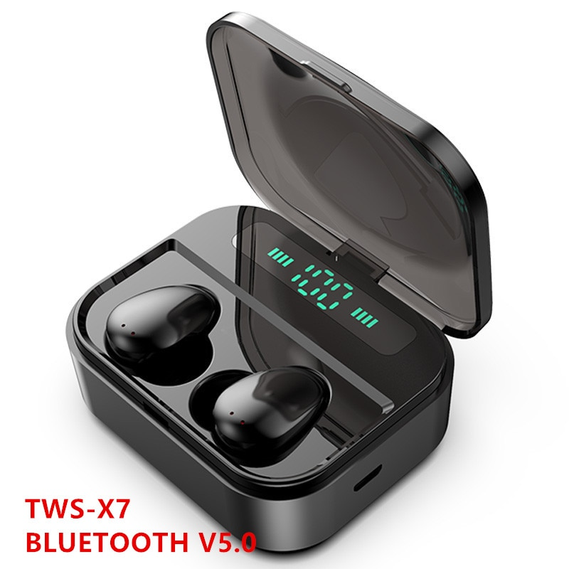 سماعات رأس X7 لاسلكية, سماعات رأس بلوتوث X7 بإضاءة LED ، لاسلكية ، سماعة ألعاب HiFi مع ميكروفون ، صوت ستيريو ، موسيقى ، سماعات بلوتوث