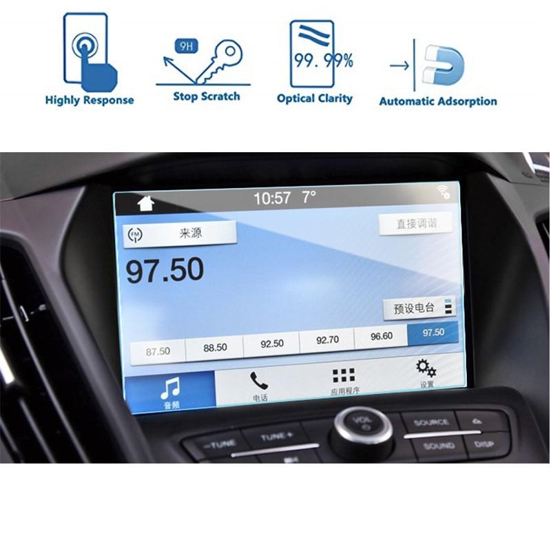 175x105 мм для Ford Explorer 2017-2018, закаленное стекло, Автомобильная Мультимедийная магнитола, экран, защитная пленка, защитная наклейка