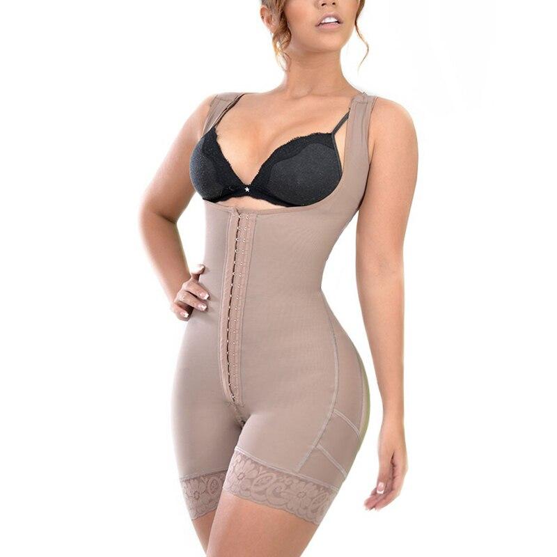Woman tummy Control Shaperwear Flatten Abdomen Bodysuit Butt Lifting Mid-Leg Faja Slimming Sheath Belly skims kim kardashian bbl