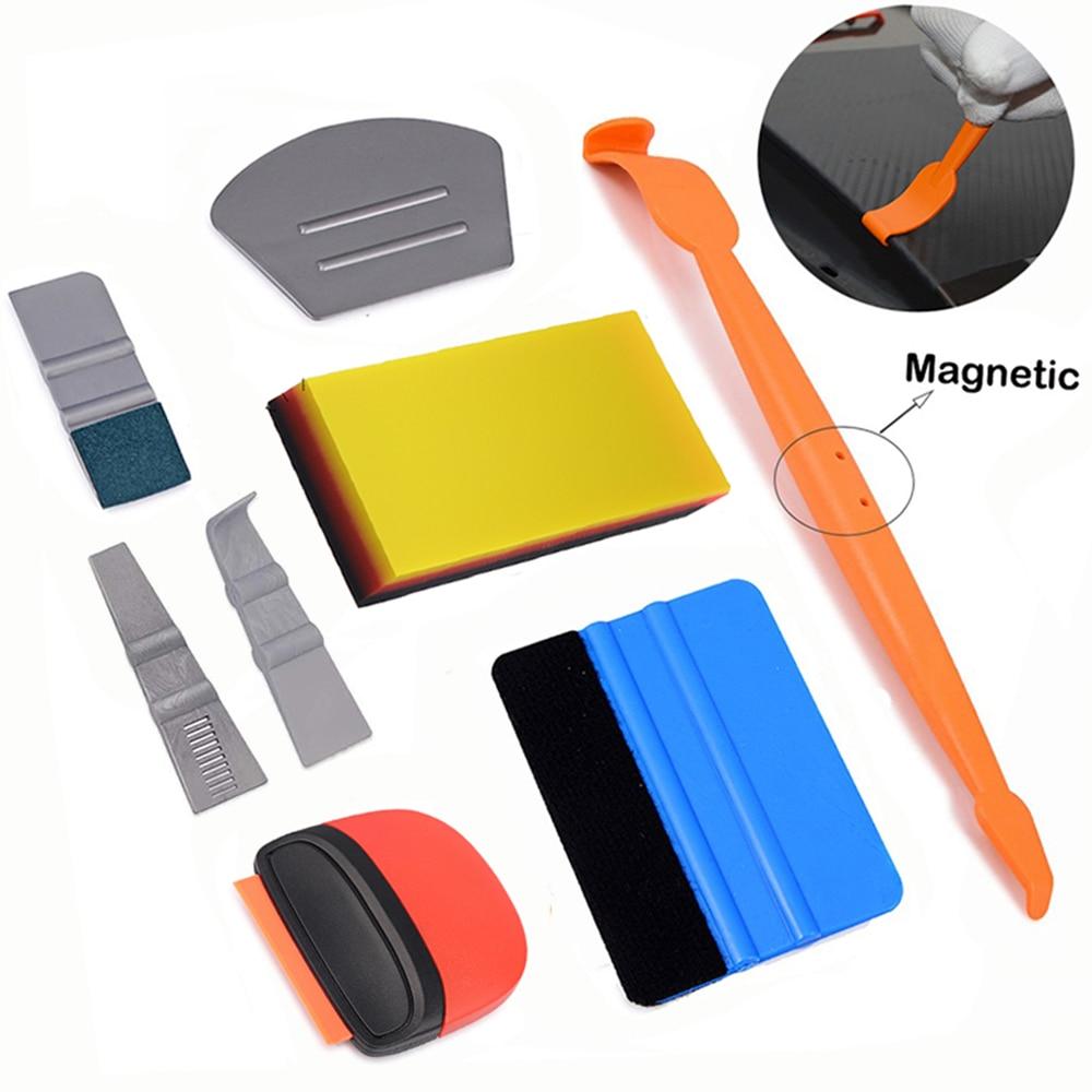 Ehdis vinil envoltório do carro de fibra carbono adesivo magnético rodo navalha raspador janela folha filme embrulho ferramentas kit acessórios do carro
