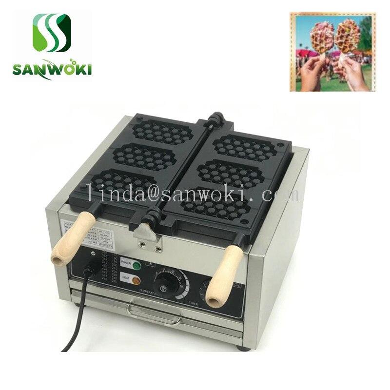 Máquina panal en forma de Waffle máquina panal de miel máquina de torta eléctrica bandeja para hornear muffins forma de colmena máquina panadera de hierro