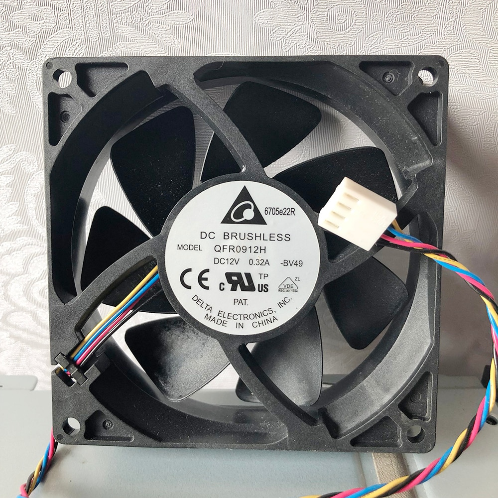 Brand new for delta QFR0912H 9cm 92mm 9225 DC 12V 0.32A FX8350 4-wire pwm CPU cooler cooling fan