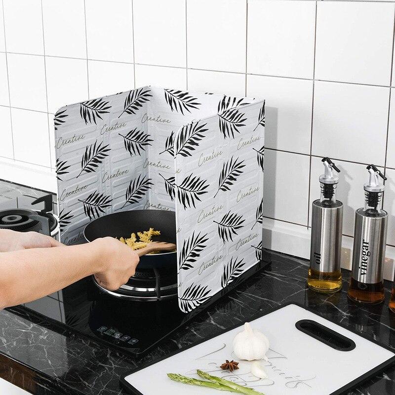 Кухонные гаджеты алюминиевый защитный экран Складная кухонная плита газовая плита дефлектор сковорода защита от брызг масла экранный инст...