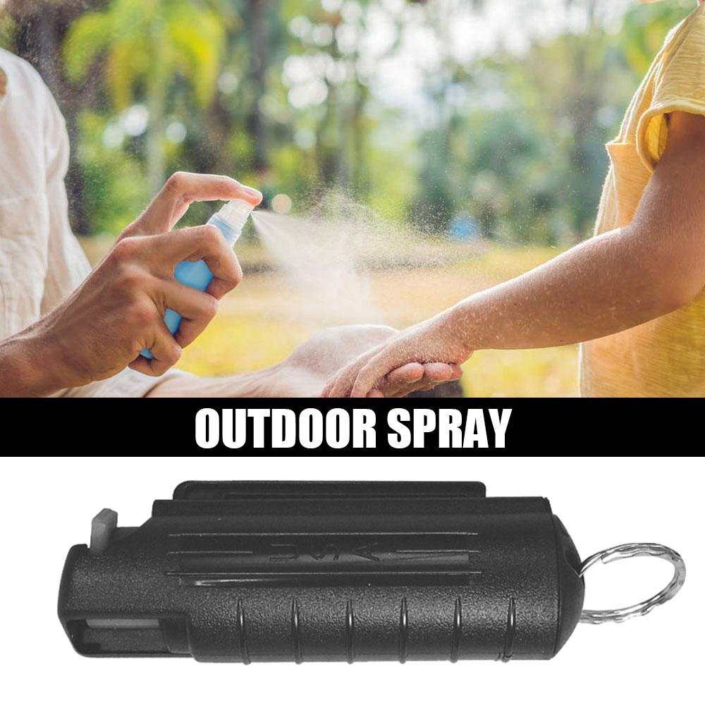 20ml Outdoor Spray Case EDC Reusable Pepper Tank Bottle Portable Plastic Emergency Empty Box Spray Shell with Key Ring Keychain