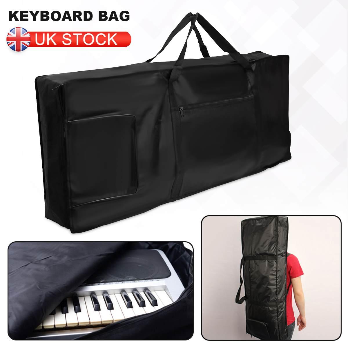 Novo saco de teclado à prova dthick água grossa acolchoado piano elétrico teclado saco 61 chave dupla ombro alças caso acolchoado anti choque