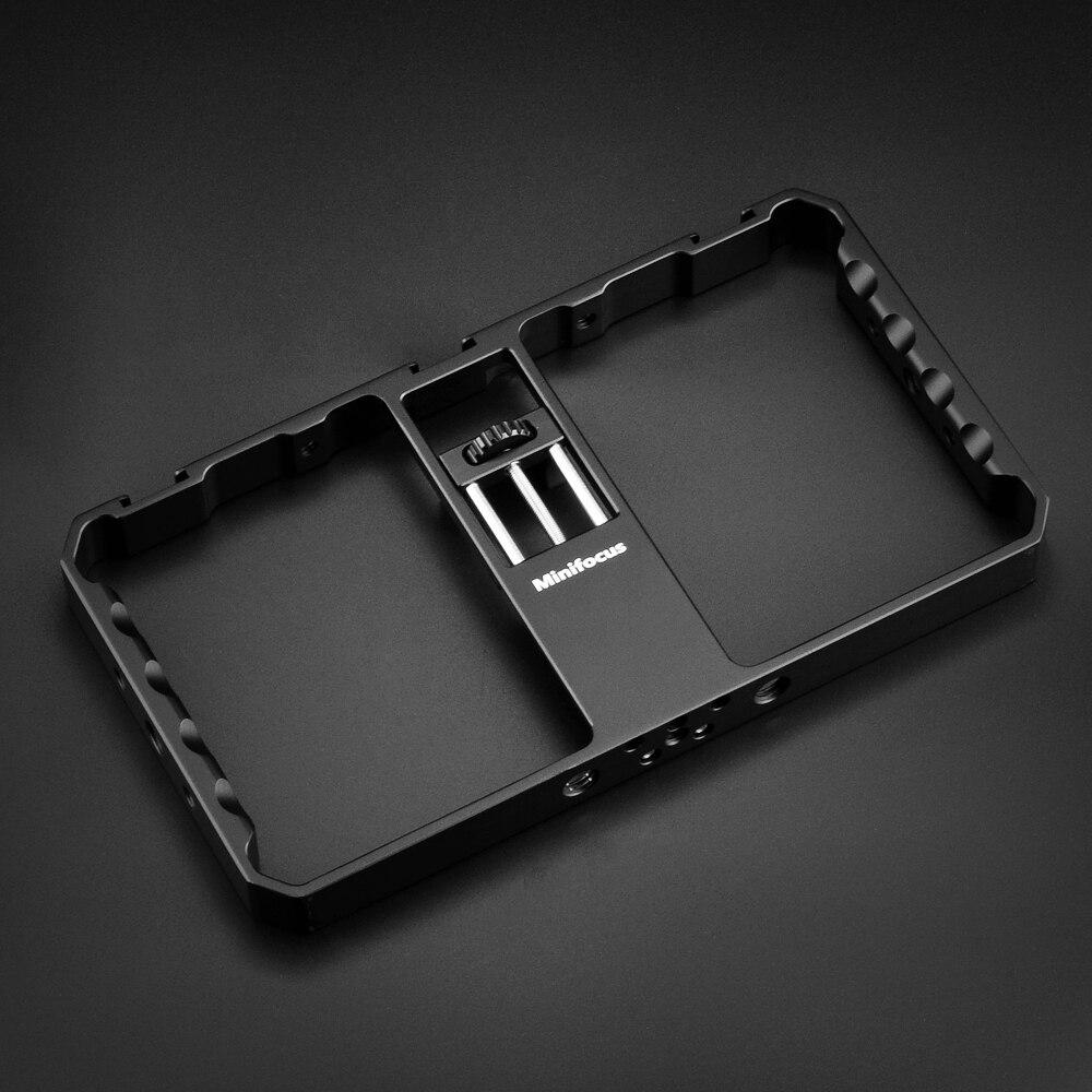 Universal Mobile Phone Cage Cell Phone Holder Dual Handle Grip For Smartphone Vlogging Vlog Video Rig Videomaker Filmmaking Case enlarge