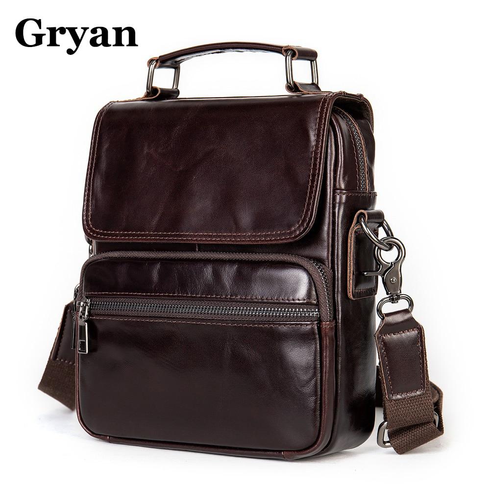 Fashion Men's Handbag Shoulder Bag Vintage Trends Genuine Leather Retro Messenger Bag Stylish Casual Male Crossbody Shoulder Bag