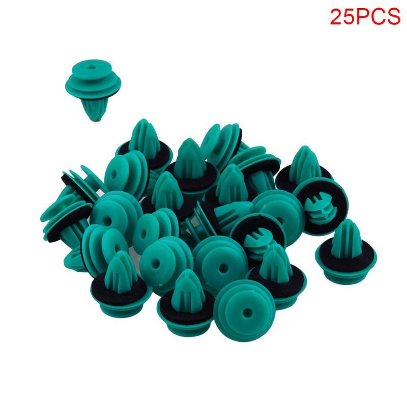 25 шт. зеленая налет нейлоновая удерживающая клипса для Toyota 90467-10188 бампер дверные пряжки автомобильные аксессуары для интерьера