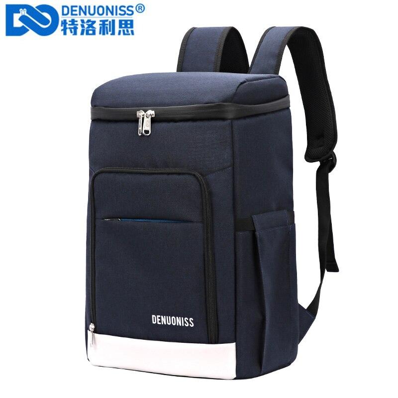 DENUONISS مناسبة نزهة برودة على ظهره رشاقته مقاوم للماء كبير الحرارية حقيبة الثلاجة الطازجة حفظ الحرارية حقيبة معزولة حراريًا