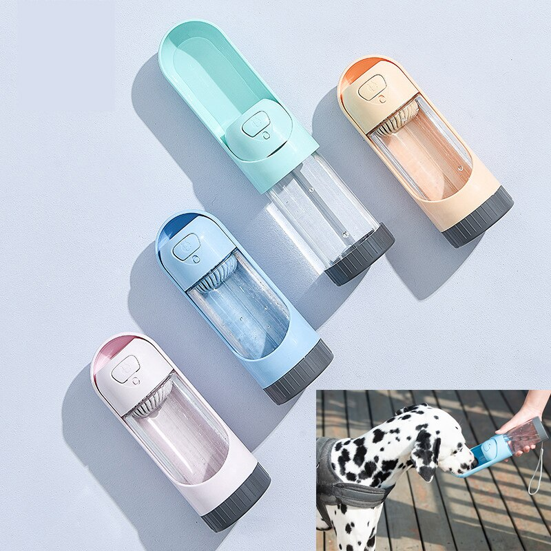 Botella de agua portátil para perros y mascotas de ABS, 300ml, para exteriores, para cachorros, perros grandes, mascota, perro, gato, dispensador de agua