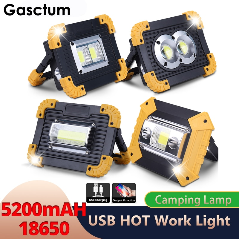 20w cob led spotlights powerful usb 18650 led work light rechargeable lampe led flashlight waterproof for outdoor camping lights 5200Mah LED Portable Spotlight 8000LM Super Bright Led Work Light Rechargeable for Outdoor Camping Lampe Led Flashlight by 18650