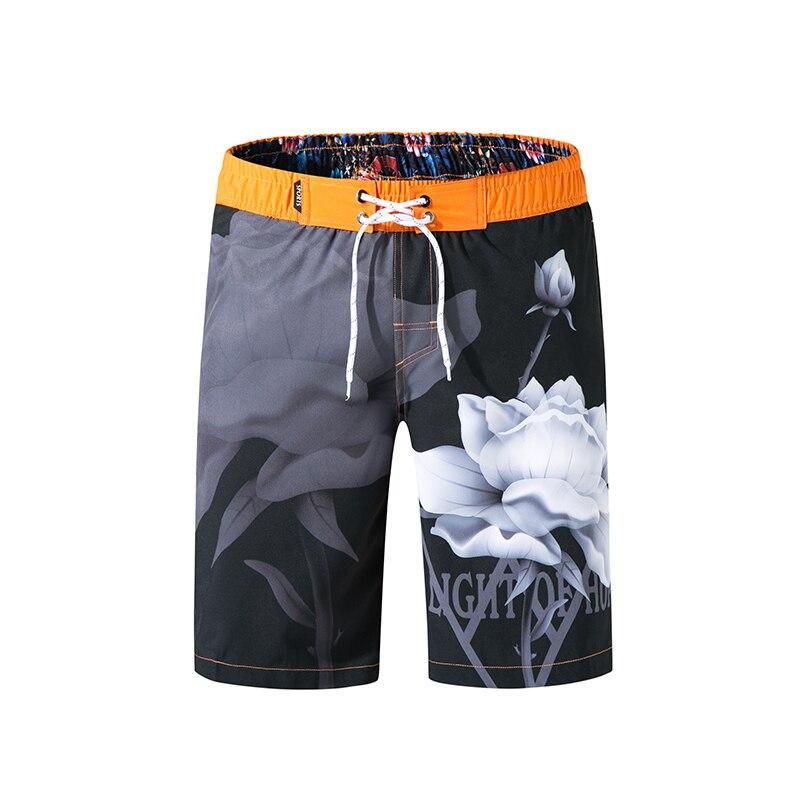 Bañadores con bolsillos para hombre, traje de baño de verano para hombre, bañadores de secado rápido con cordón, pantalones cortos de playa estampados, traje de baño para hombre