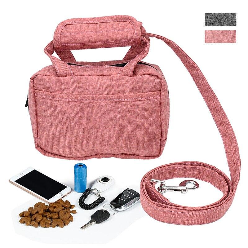 Сумка для поводка для собак, сумка для обучения питомцев, сумка для прогулочного поводка, Диспенсер и держатель отходов для домашних животн...
