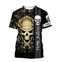 dark skull bones heart and lung print funny skull t shirt ladies punk top summer short sleeve streetwear t shirt femme