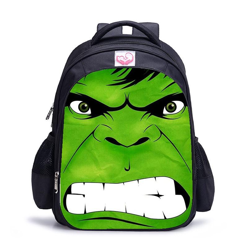 16 Inch Super Hero Hulk School Bags Orthopedic Backpack Kids School Boys Girls Catoon Bags Daily Mochila Infantil