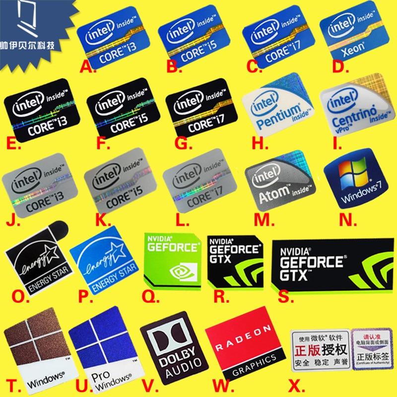 DIY Sticker Decoration Original Second And Third-Generation Cpu i3 i5 i7 Laptop Personality Label