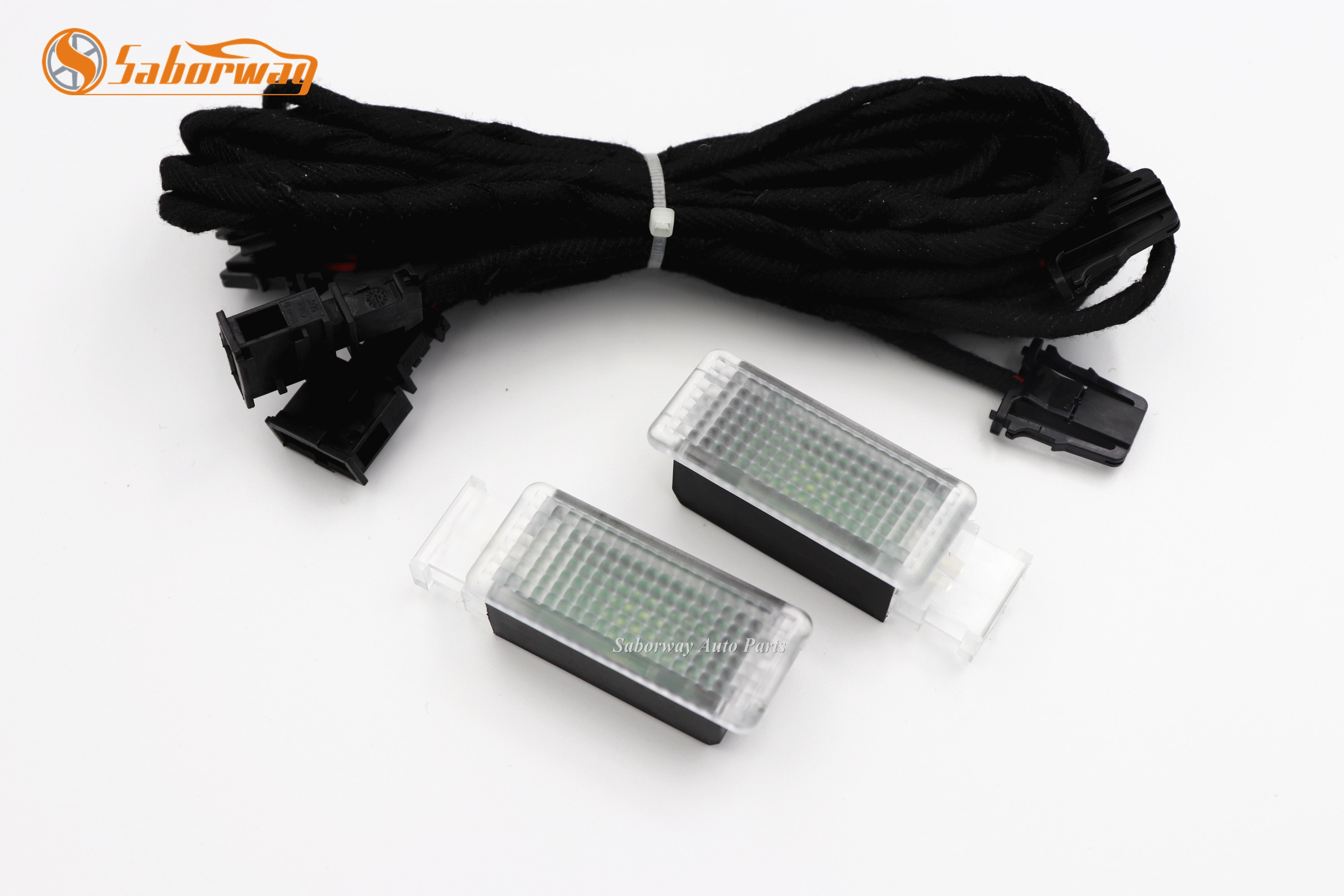 Светодиодная лампа для ног, 2 шт., космическая лампа и кабель для гольфа 7 MK7 Passat 3G B8 5GG947409 5GG 947 409 5G0947409 5G0 947 409