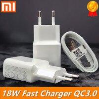 Быстрое зарядное устройство xiaomi, 18 Вт, USB QC3.0, зарядное устройство типа C, кабель Micro USB для xiaomi Redmi note 7 8 se 9s MI 6 mi 3 4 5 redmi