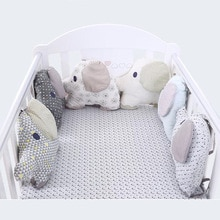 6 pièces/ensemble éléphant forme bébé lit pare-chocs Carton oreiller coussin pare-chocs pour bébé bébé berceau protecteur lit pare-chocs bébé ensemble de literie
