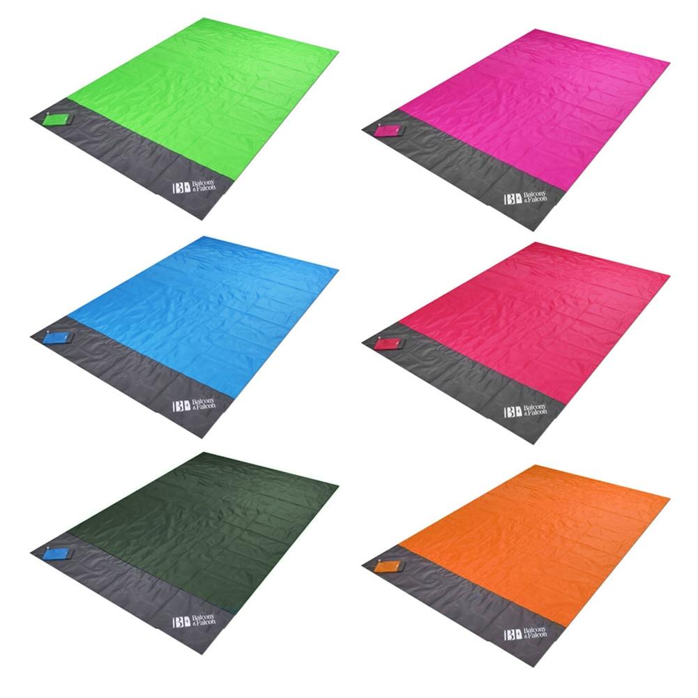 1.4x2m Waterproof Pocket Beach Blanket Folding Camping Mat Mattress Portable Lightweight Mat Outdoor Picnic Mat Sand Beach Mat