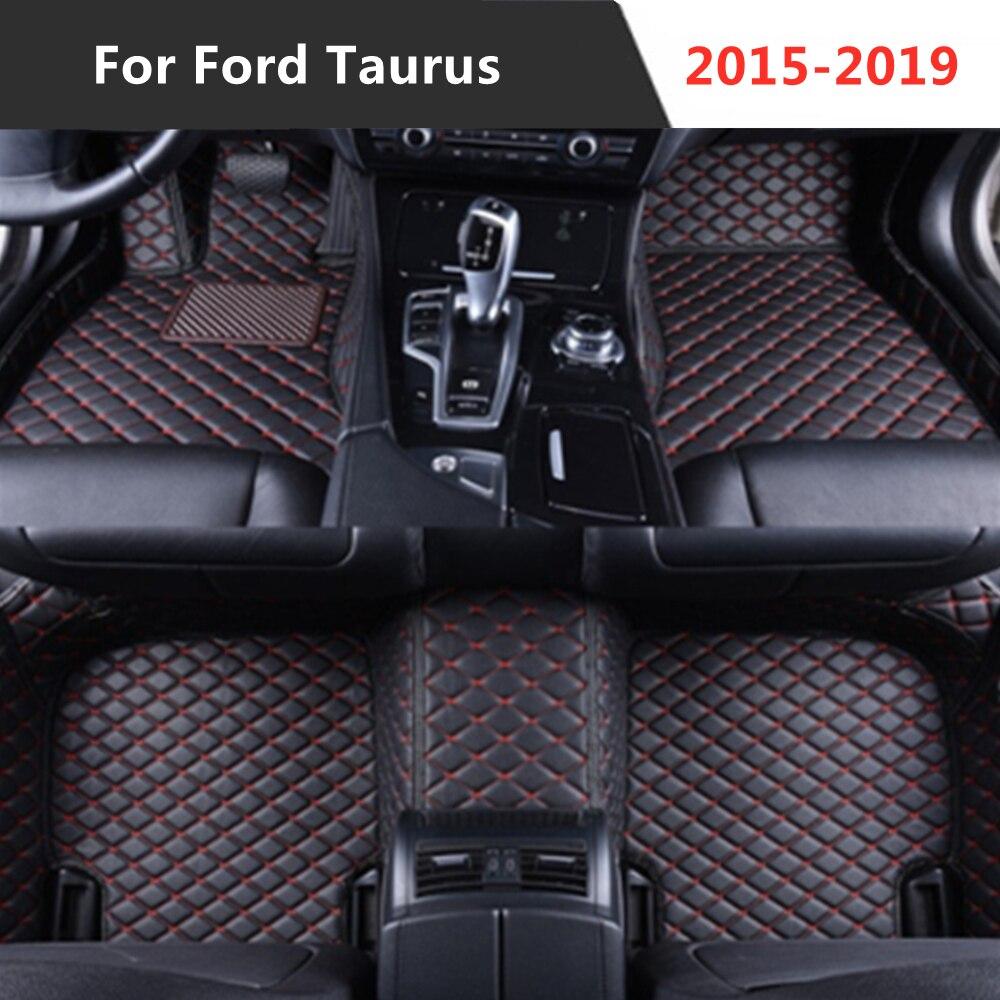 Para Ford Taurus (2015-2019) 2016-2017-2018-Año de cuero Auto alfombrilla de pies para...