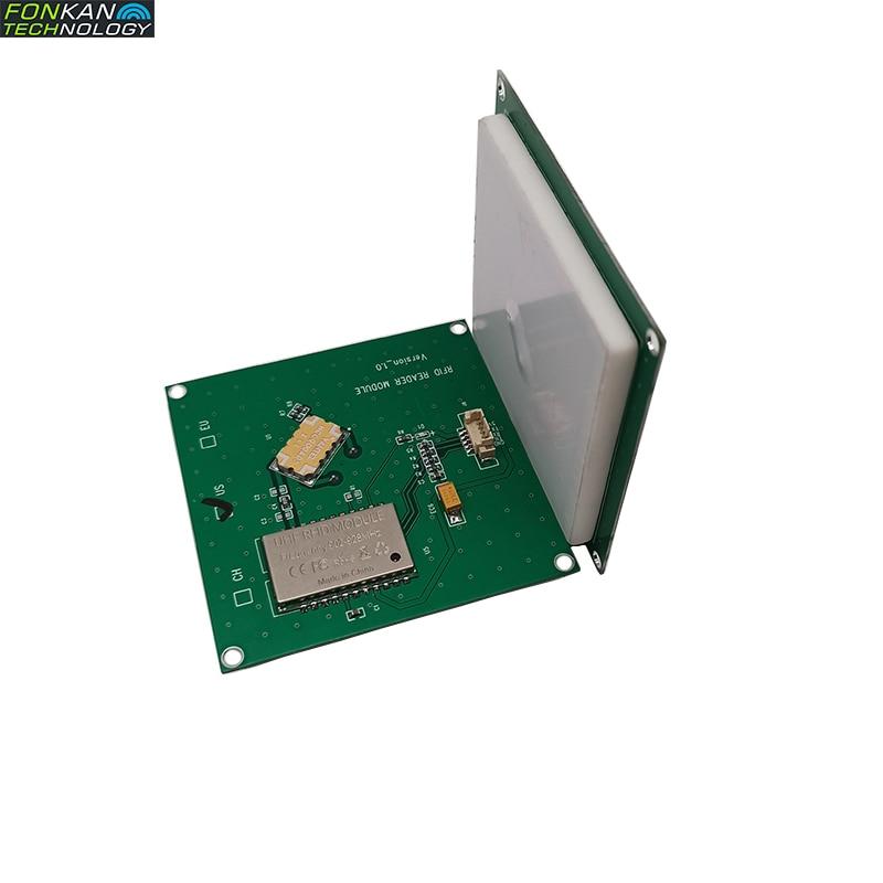FONKAN ISO18000-6C 3M رن UHF RFID متكامل القارئ وحدة TTL232 مع 4dbi هوائي 70*70 مللي متر 865-868Mhz 902-928mhz شحن SDK
