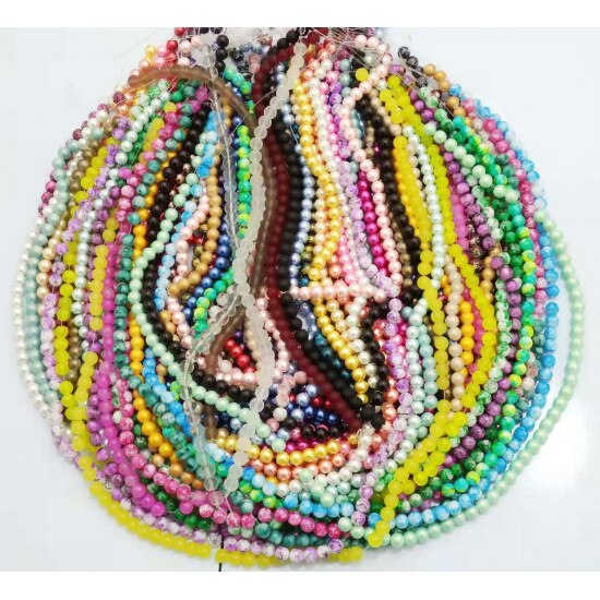 Promo 100 Strand Mixed Glass Beads 38pcs each strand in 10mm for women diy jewelry M11